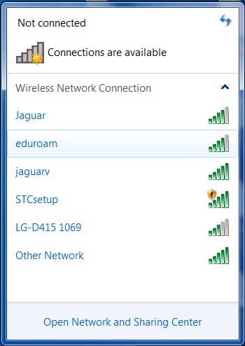 wireless selection